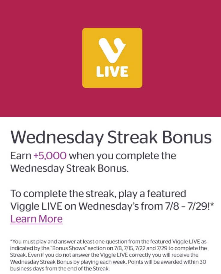 Wednesday Streak Bonus