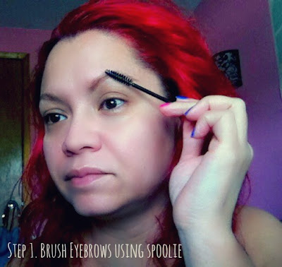 brush eyebrows with spoolie
