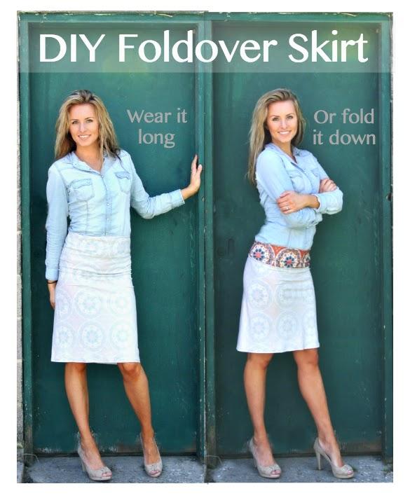 Diy Simple Knit Folded Waist Skirt
