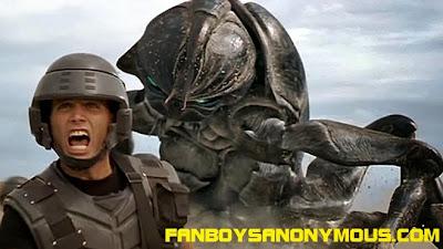 Casper Van Dien Rico Starship Troopers bug invasion scene