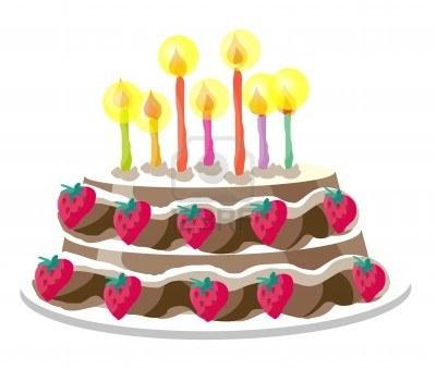 image gâteau anniversaire fond blanc – idée d'image de gâteau