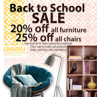 20% Off All Furniture Now - September 30th! Plus Special Weekly Sales!