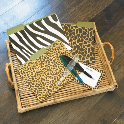 animal print file folders