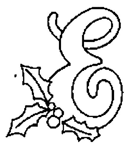 Desenhos Para Colori letras do alfabeto letra E desenhar
