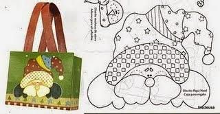 Moldes para fazer patchwork de natal