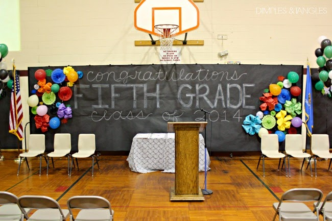 5th grade graduation school gym decorations and teacher gifts dimples and tangles for 5th grade graduation ideas