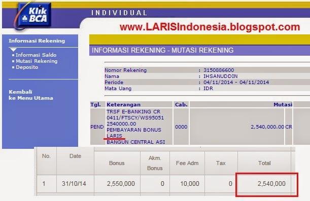 bukti wd laris property