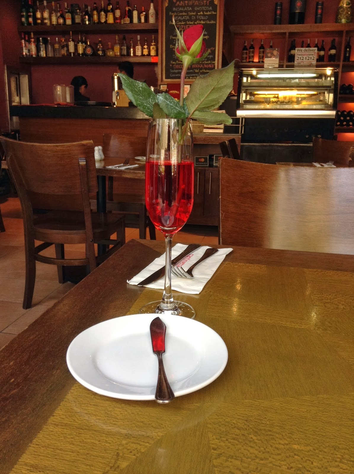 a rose from Cantinetta restaurant