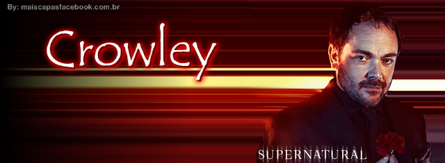 Supernatural Crowley - Hello Boys Capa para Facebook