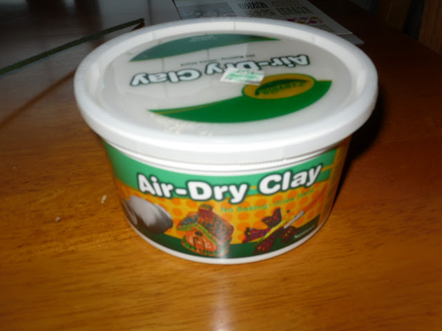 Crayola air dry clay from Hobby Lobby
