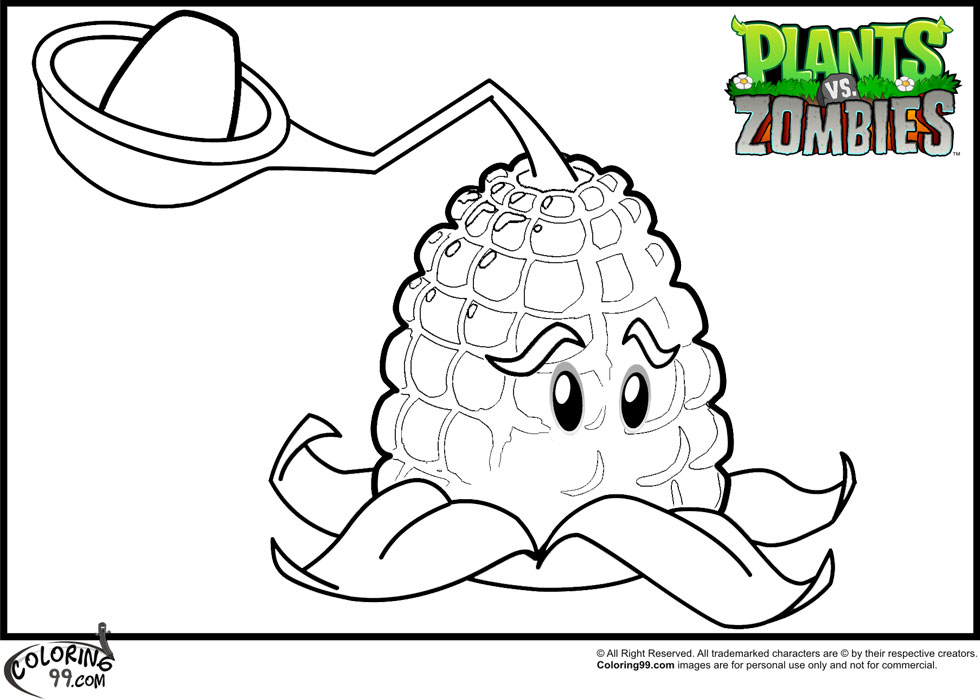 Plants Vs Zombies Coloring Pages on unlocked phones