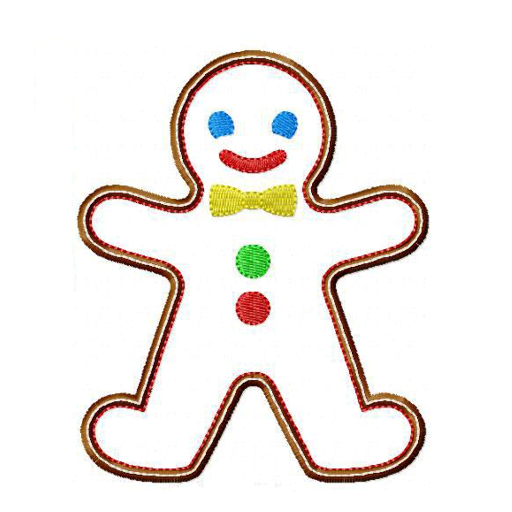 Embroidery GINGERBREAD MAN Machine Embroidery Applique Design Pattern