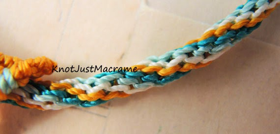 Micro macrame cord knotted by Sherri Stokey of Knot Just Macrame.