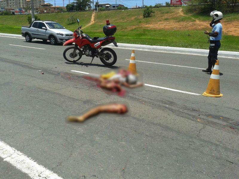 Tragédia: adolescente é esmagada por caminhão na Paralela