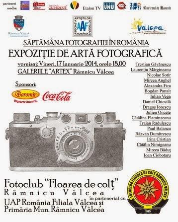 Expoziţie de artă fotografică la galeriile ARTEX  17- 30. 01.2014
