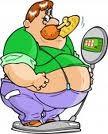 orang gemuk dengan makanan