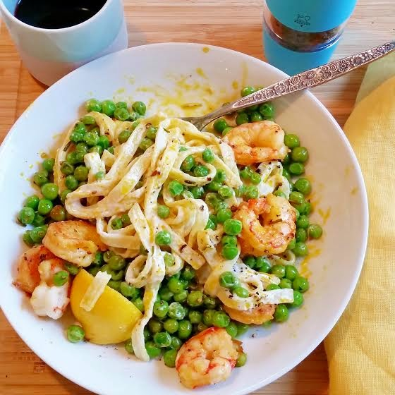 Sauté your peas with your spices until cooked. Place in a bowl to ...
