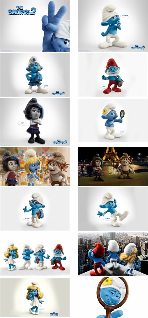 The Smurfs 2 3D Theme For Windows 7 And 8
