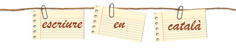 Escriure en català