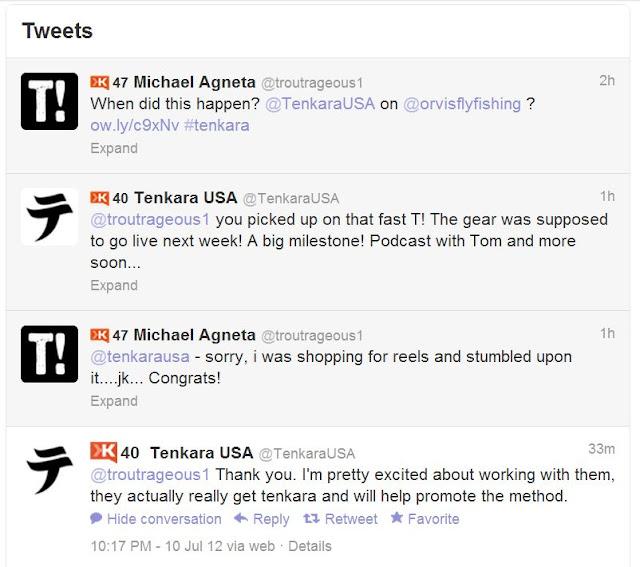 Twitter Back & Forth Tenkara