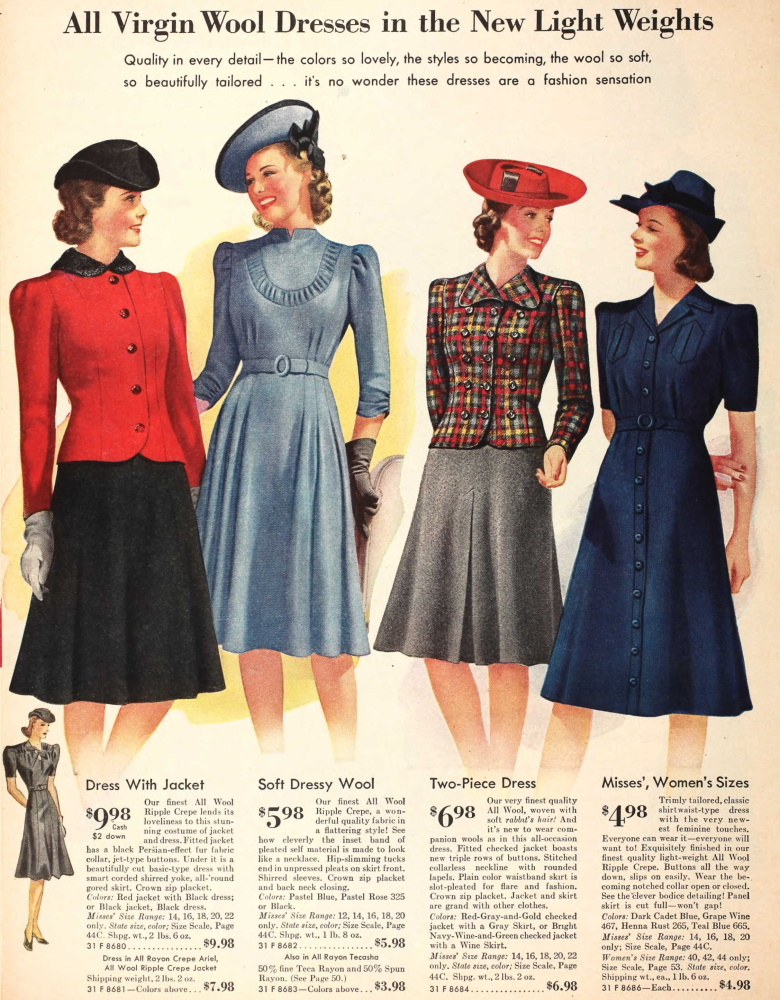 Womens Dress Styles 1940s With Awesome Style In Spain