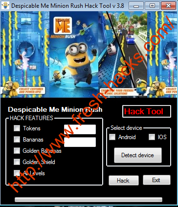 Minion Rush Hack Cheat Tool Free Download
