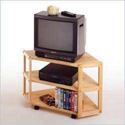 wood corner tv shelves