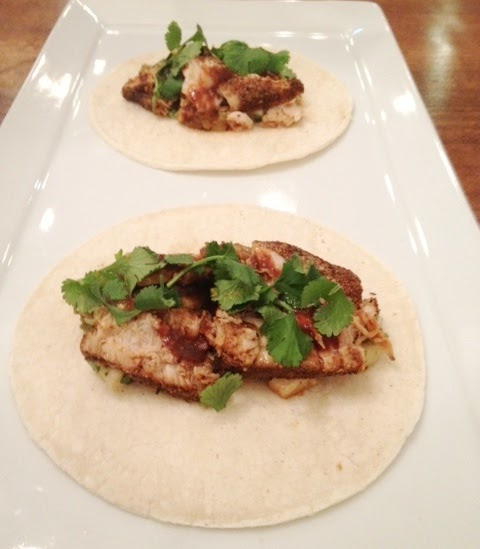 Chile-Crusted Tuna Tacos Recipe