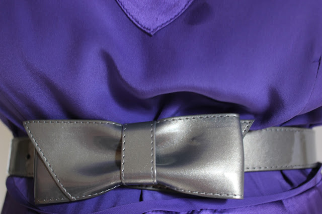 Gray Bow Belt