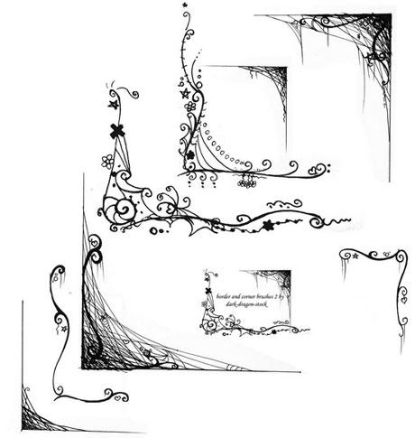 Pinceles de Bordes y esquinas