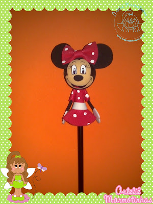 PONTEIRA 3D MINNIE By Lubia Liz