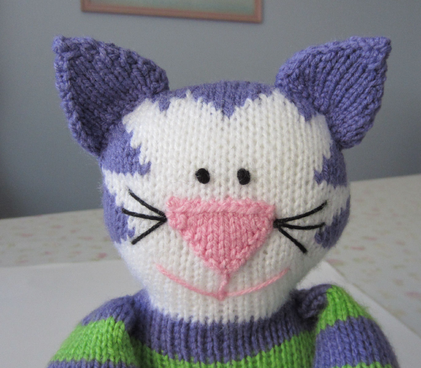 Knitted Cat Pattern : Justjen-knits&stitches: Share Kitty - Knitted Cat Pattern