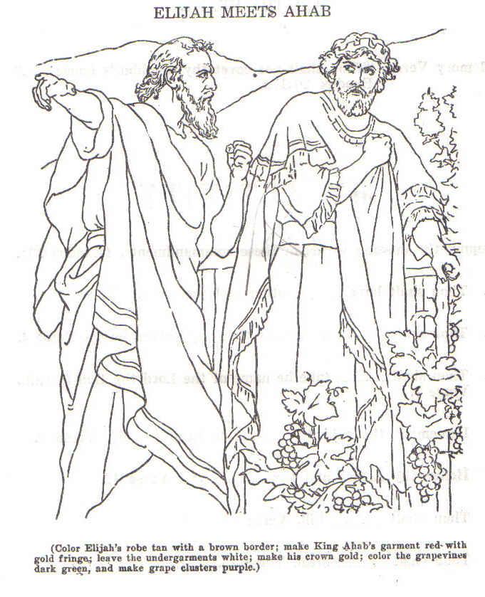 Elijah And Jezebel Coloring Pages