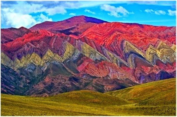 SUBHANALLAH Pemandangan Menakjubkan di Gunung Pelangi di Argentina 7 GAMBAR