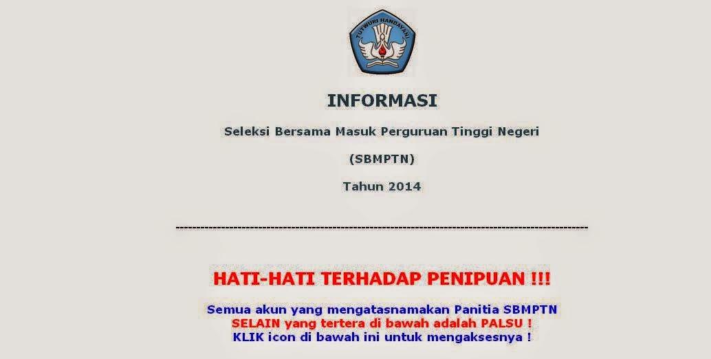 Hasil SBMPTN 2014 Online