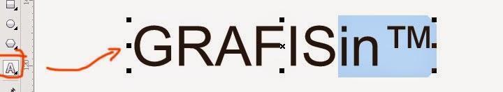 Contoh Memasukan Karakter Khusus Trade Mark di CorelDraw