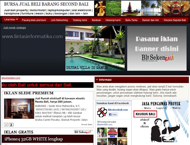 Review Situs Web BliSekenBali.Com