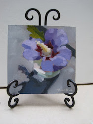 Painting on Plate Easel