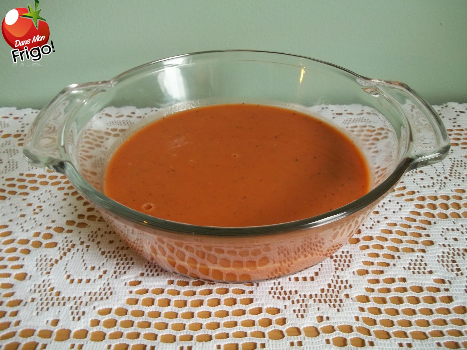 Dans mon frigo cr me de tomates for 750g dans mon frigo