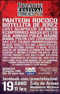 ProArte Festival Crimenes y TV 19 de Junio