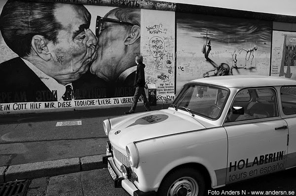 Berlinmuren, die berliner mauer, the berlin wall, east side gallery, DDR, Östtyskland, east germany, the kiss, trabant, kyssen, östtysk bil,, tsyfpl, foto anders n