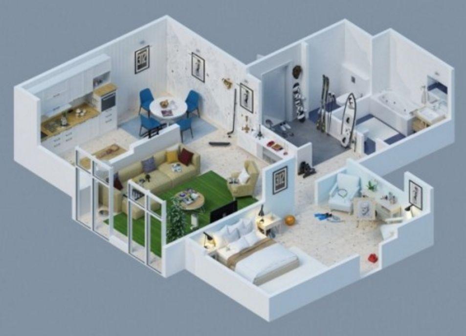 bentuk denah lantai satu minimalis tipe 45 terkini
