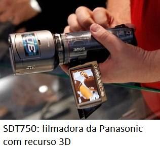 : filmadora SDT750 da Panasonic