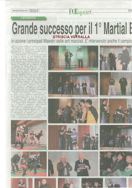 L'OPINIONE DEL 21.03.2012 VETRALLA GRANDE SUCCESSO PER IL 1° MARTIAL EVENT.