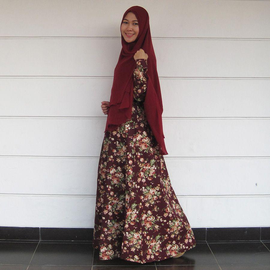 Model Baju Gamis Syari Terbaru Untuk Ramaja