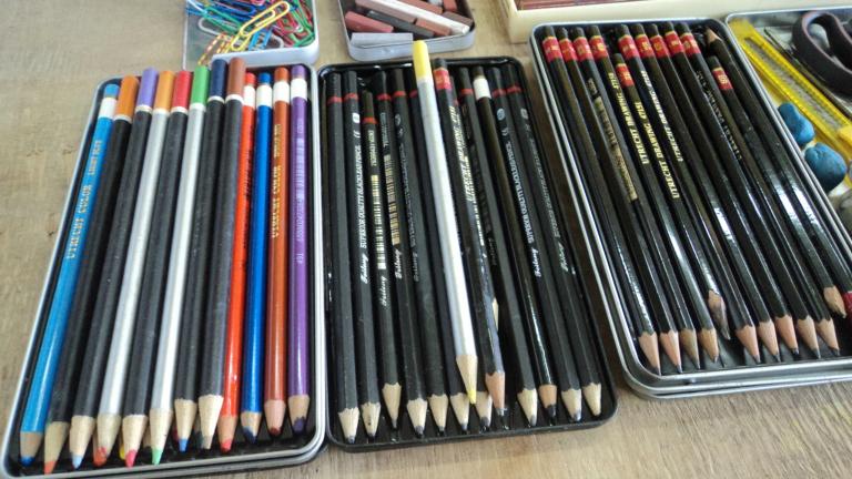 Foto de diferentes clases de lápices