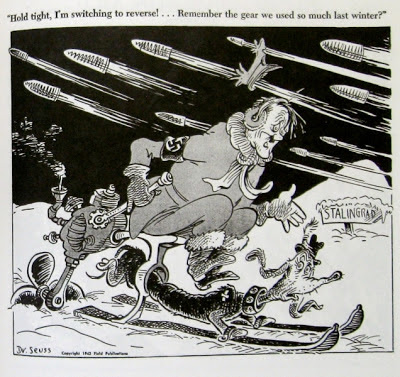 Dr. Seuss Goes to War comic strip Nazi Hitler WWII Stalingrad Theodore Geisel political cartoon