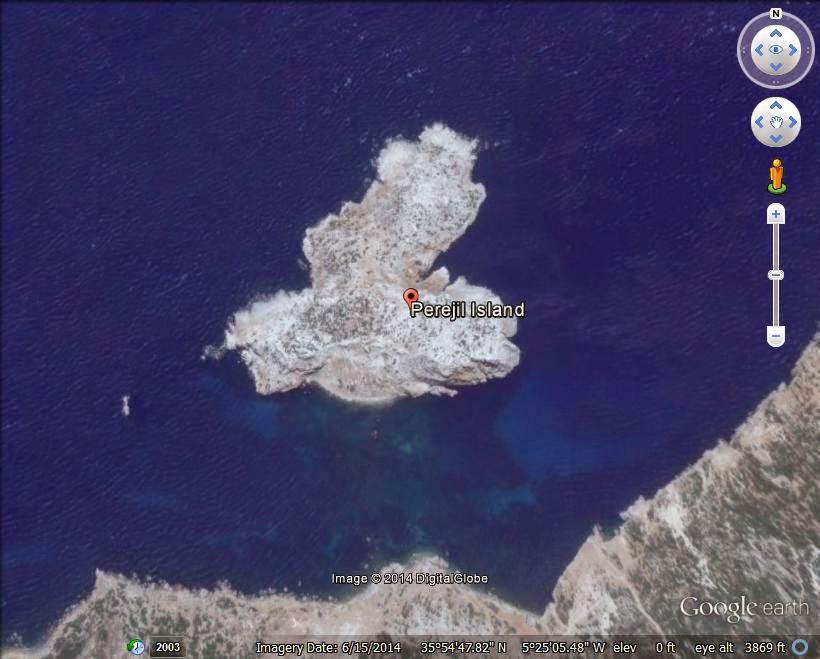 The Perejil Island - disputed island ranked 6th