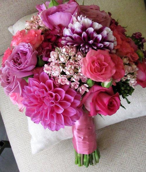Wedding Bouquet With Dahlias : Beautiful bridal dahlia bouquets