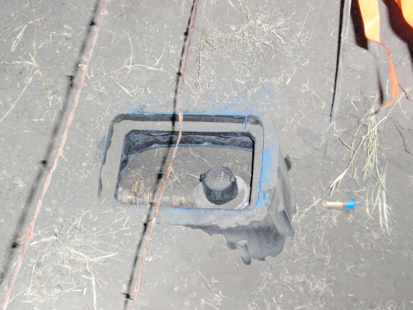 House Water Meter : Macey house project sewer and water are here